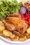 Pollo arrosto Immagini Stock