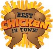 Migliore pollo in città! Immagine Stock Libera da Diritti