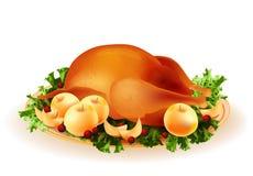 pollo asado stock de ilustración