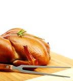 Pollo asado aislado fotografía de archivo