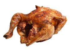 Pollo asado aislado en un blanco Imagen de archivo