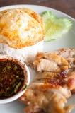 Pollo asado con arroz Fotografía de archivo libre de regalías