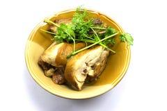 Pollo asado con la miel y la mostaza Foto de archivo libre de regalías