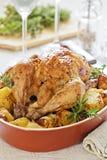 Pollo asado delicioso Imagen de archivo libre de regalías
