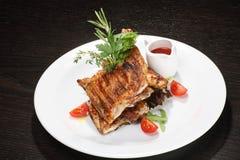 Pollo (asado) frito Imagen de archivo