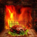 Pollo asado a la parilla. Fotos de archivo