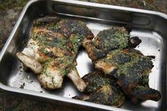 Pollo asado a la parilla Fotografía de archivo libre de regalías