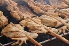 Pollo asado a la parrilla Fotos de archivo