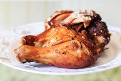Pollo asado a la parrilla de la pimienta Imágenes de archivo libres de regalías