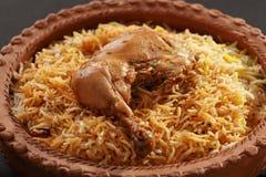 Pollo Biryani de Hyderabadi Imágenes de archivo libres de regalías