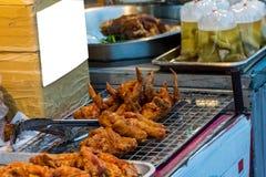pollo caldo delizioso fritto Immagini Stock