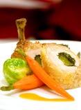 Pollo chamuscado cacerola supremo Foto de archivo