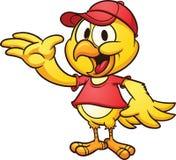 Pollo che indossa un cappuccio Royalty Illustrazione gratis
