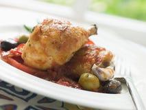 pollo chilindron al kurczaka Obrazy Stock
