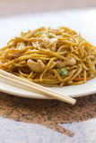 Pollo chino Lo Mein Foto de archivo libre de regalías