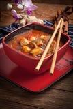 Pollo cinese con le verdure Fotografia Stock