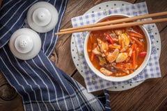 Pollo cinese con le verdure Immagini Stock Libere da Diritti