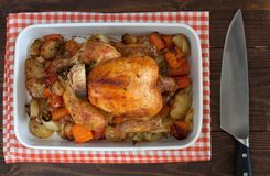 Pollo cocido al horno Imagenes de archivo