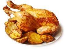 Pollo cocido al horno Imagen de archivo