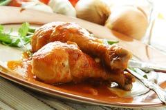 Pollo cocido al horno Fotografía de archivo