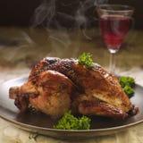 Pollo cocido al horno Fotos de archivo