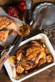Pollo cocido al horno Fotografía de archivo libre de regalías