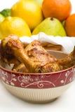 Pollo cocido al horno Imagen de archivo libre de regalías