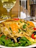 Pollo cocido al horno italiano Imagen de archivo