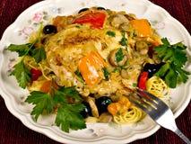 Pollo cocido al horno italiano Imágenes de archivo libres de regalías