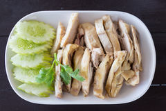 Pollo cocido al vapor tailandés Foto de archivo