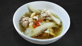 Pollo cocido chino en cuenco fotografía de archivo