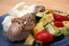 Pollo cocido de Mediterannean Imagen de archivo libre de regalías