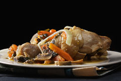 Pollo cocido en oscuridad Fotos de archivo libres de regalías