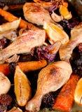 Pollo cocido horno Fotografía de archivo