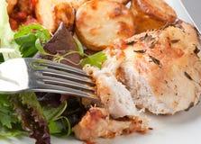 Pollo cocinado con romero Fotos de archivo