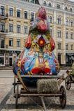 Pollo como símbolo del folclore imágenes de archivo libres de regalías