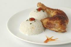 Pollo con arroz Foto de archivo libre de regalías