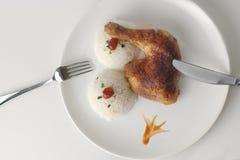 Pollo con arroz Imagen de archivo libre de regalías
