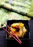 Pollo con arroz fotografía de archivo