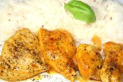 Pollo con arroz imagenes de archivo