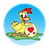 Pollo con l'uovo Fotografia Stock
