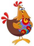 Pollo con l'uovo di Pasqua Fotografia Stock