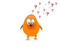 Pollo con la pregunta libre illustration