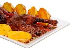 Pollo con la salsa della ciliegia Fotografia Stock