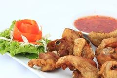 Pollo con la salsa di peperoncino rosso dolce Immagine Stock