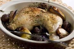 Pollo con las castañas Imagen de archivo