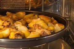 Pollo con le cipolle Fotografia Stock