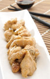 Pollo con le mandorle e la salsa di soia Fotografia Stock