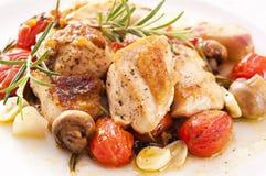 Pollo con le verdure Immagine Stock