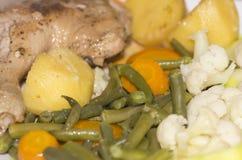 Pollo con le verdure Fotografia Stock Libera da Diritti